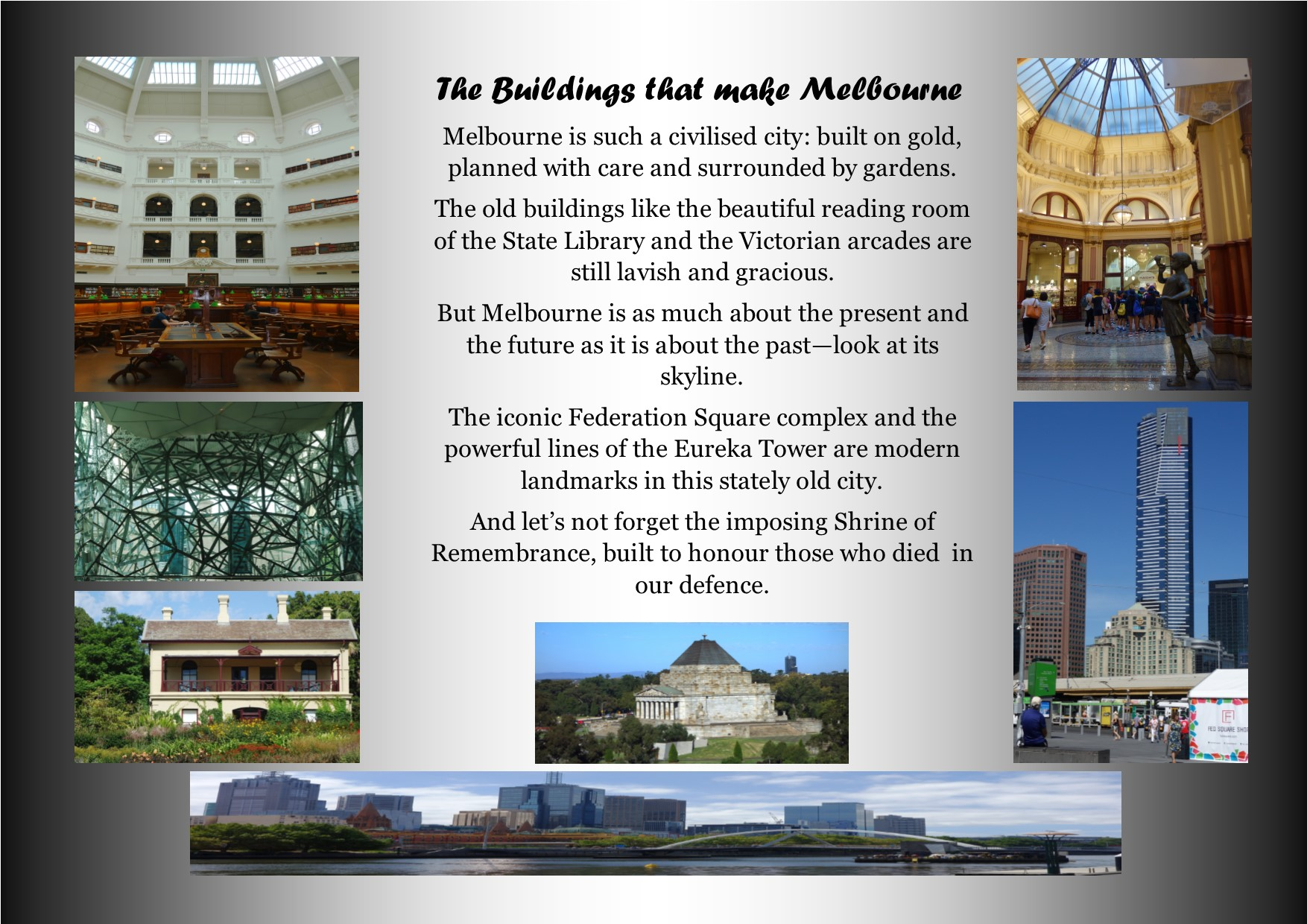 The buildings that make Melbourne